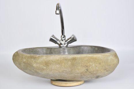 Lavoar piatra Ego RIVER STONE LOTOS G polished wash basin overtop