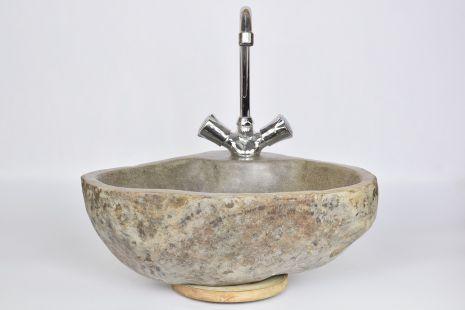 Lavoar piatra Ego RIVER STONE LOTOS A polished wash basin overtop