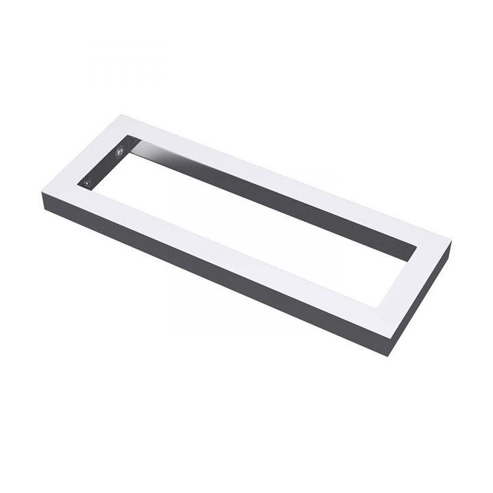 Consola perete, otel inoxidabil, Crom sau Negru mat, 45 sau 50 cm, suport lavoar sau blat